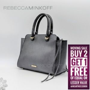 REBECCA MINKOFF Mini Avery Black Saffiano Leather